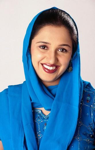 Stock Photo: 1436R-352763 Indian Sikh Punjabi women smiling.