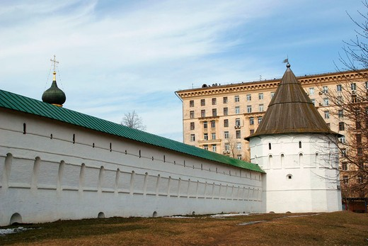 Stock Photo: 1436R-353376 Walls of Novospassky monastery, Moscow. Russia