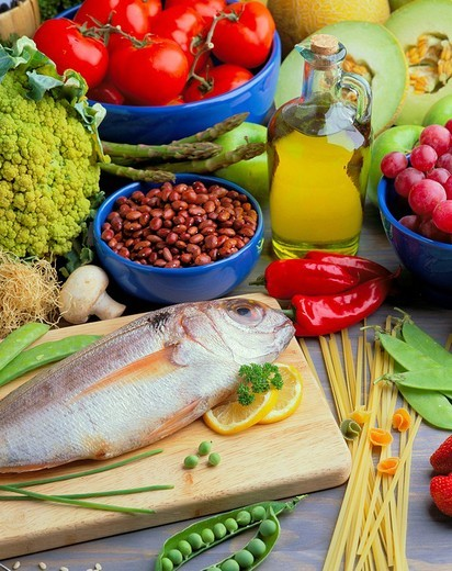 Stock Photo: 1436R-355109 Mediterranean diet