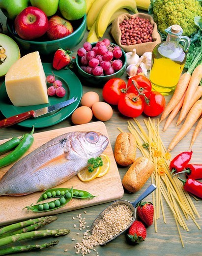Mediterranean diet : Stock Photo