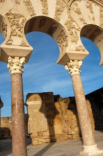 Ruins of Medina Azahara, palace built by caliph Abd al-Rahman III. Córdoba province, Andalusia, Spain : Stock Photo