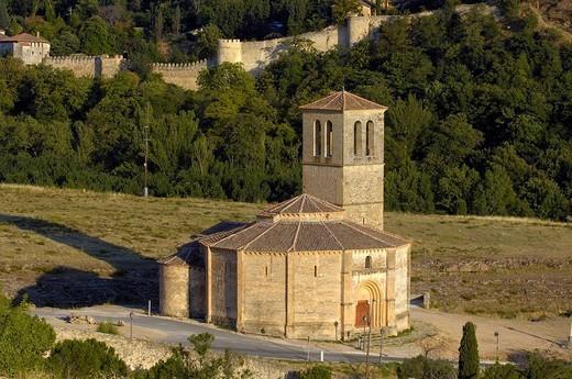Stock Photo: 1436R-356951 Iglesia de la Vera Cruz, near Zamarramala. Segovia, Castile-Leon, Spain
