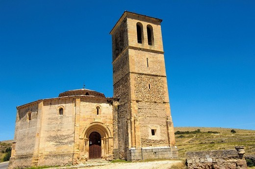 Stock Photo: 1436R-356955 Iglesia de la Vera Cruz, near Zamarramala. Segovia, Castile-Leon, Spain