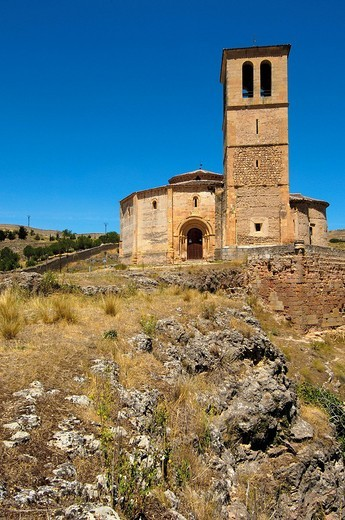 Iglesia de la Vera Cruz, near Zamarramala. Segovia, Castile-Leon, Spain : Stock Photo