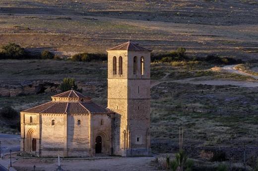 Stock Photo: 1436R-356960 Iglesia de la Vera Cruz, near Zamarramala. Segovia, Castile-Leon, Spain