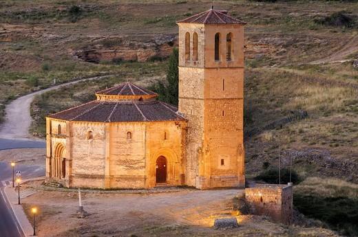 Stock Photo: 1436R-356962 Iglesia de la Vera Cruz, near Zamarramala. Segovia, Castile-Leon, Spain