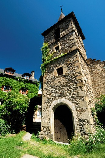 St. Peter´s church,  Anciles. Huesca province, Aragón, Spain. : Stock Photo