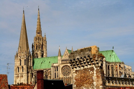 gothic cathedral in Chartres, France : Stock Photo