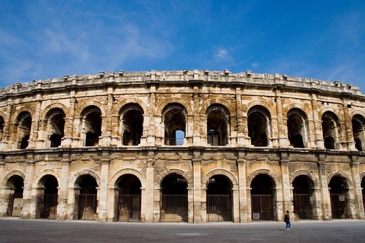 Stock Photo: 1436R-358453 Stock photo an arena in Nimes, France