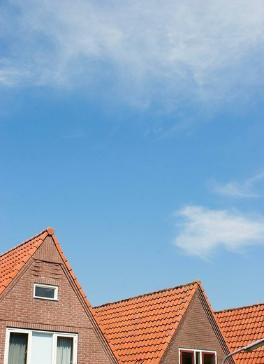 Stock Photo: 1436R-358716 Typical houses, Volendam. Netherlands