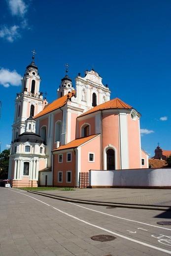 July 2006. Sunny day in old-city of Vilnius : Stock Photo