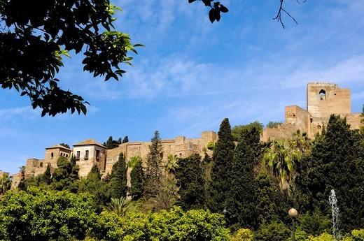 Alcazaba Moorish fortification, Malaga, Costa del Sol, Andalusia, Spain : Stock Photo