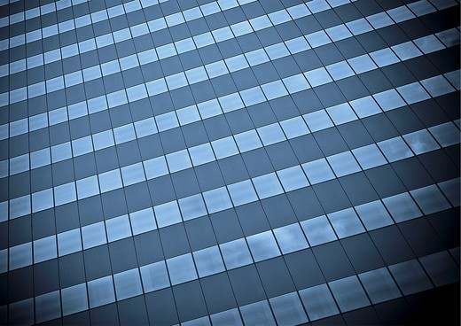 Windows of a corporate office building : Stock Photo