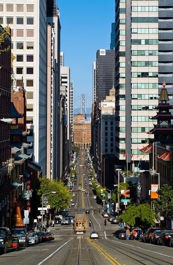 California Street, San Francsico, USA : Stock Photo