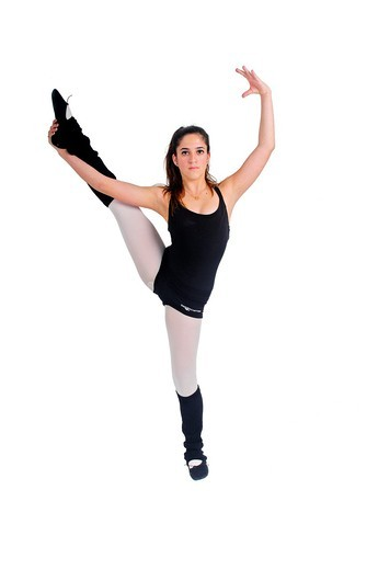 Female teen Ballet Dancer aged thirteen On white Background : Stock Photo