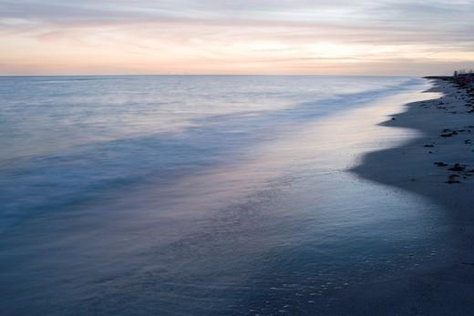 After sunset on Bowman´s Beach - Sanibel Island, Florida : Stock Photo