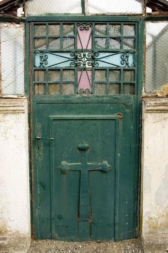 Doorway - Punta Arenas Cemetery - Punta Arenas, Chile : Stock Photo