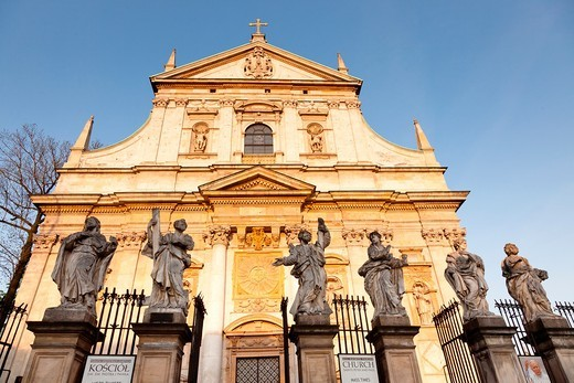 Stock Photo: 1436R-429559 Church of Saints Peter and Paul in the Old Town district of Kraków, Poland