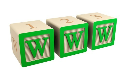 Stock Photo: 1436R-430151 toy wooden block www internet green
