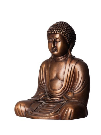 Stock Photo: 1436R-430314 Bronze Buddha statue