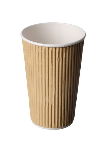 Stock Photo: 1436R-430378 Recycled paper cup coffee takeaway