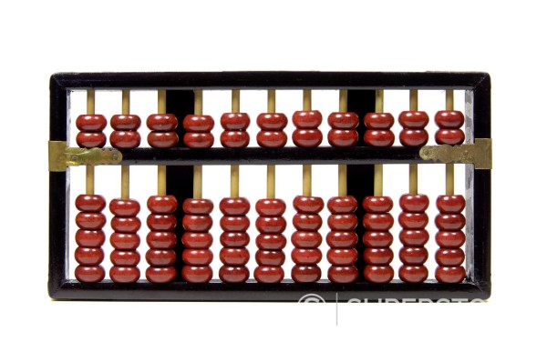 Stock Photo: 1436R-430464 Chinese ancient calculating machine, Abacus