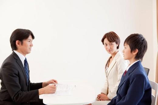Parent_Teacher_Student Meeting : Stock Photo