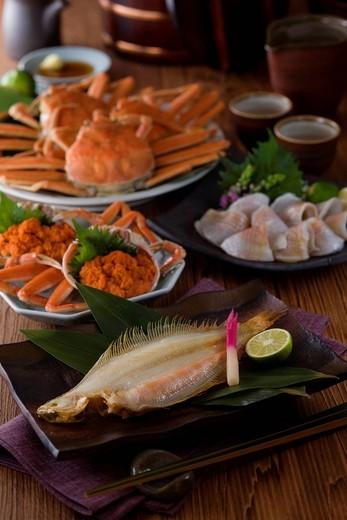 Seafood of Hokuriku region : Stock Photo