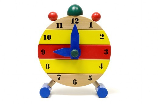 Stock Photo: 1436R-432006 Colourful toy 9 O´clock
