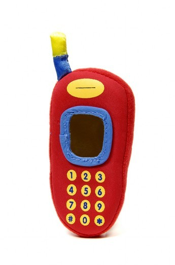 Mobile phone soft toy : Stock Photo