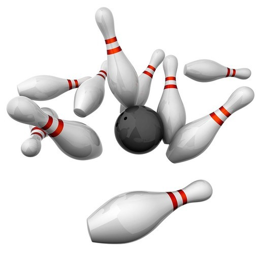 10 pin bowling : Stock Photo
