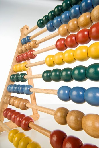 childrens abacus - calculator with all beads at random sides : Stock Photo