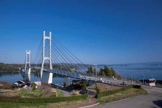 Twin Bridge Noto, Nanao, Ishikawa, Japan : Stock Photo