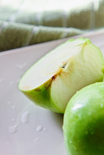 GRANNY SMITH APPLE : Stock Photo