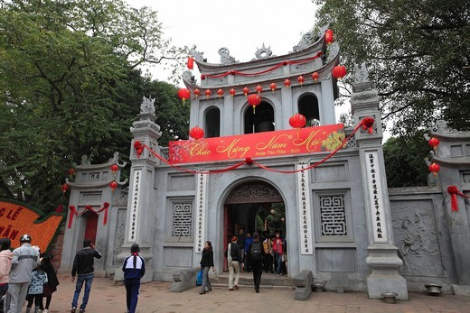 Stock Photo: 1436R-433520 Temple of Literature, Hanoi, Vietnam