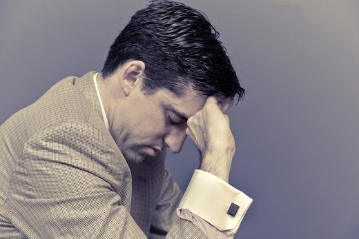 Stock Photo: 1436R-433794 Man thinking