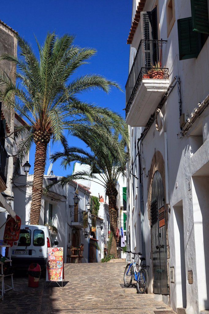 Stock Photo: 1436R-439472 Spain, Balearic Islands, Ibiza, Ibiza old town UNESCO site, Dalt Vila