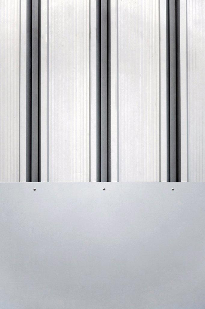 Stock Photo: 1436R-440350 metall patern / industry façade / building façade