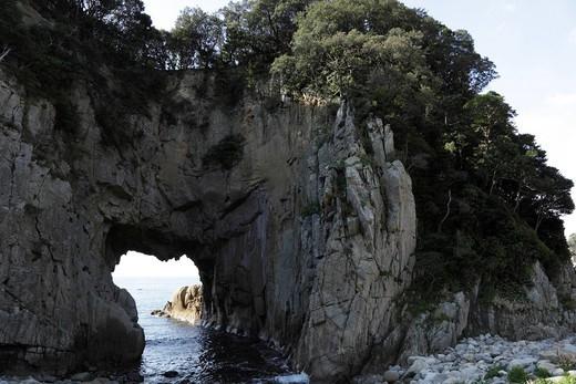 Hakusan Sea Cave, Tosashimizu, Kochi, Japan : Stock Photo