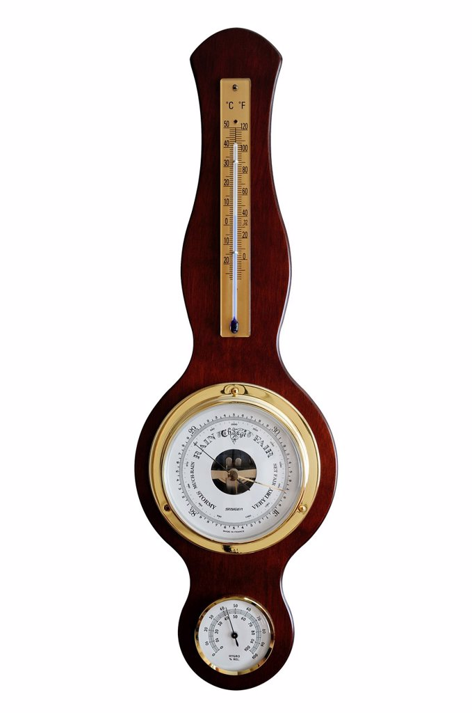 Stock Photo: 1436R-442200 Barometer, Cut Out
