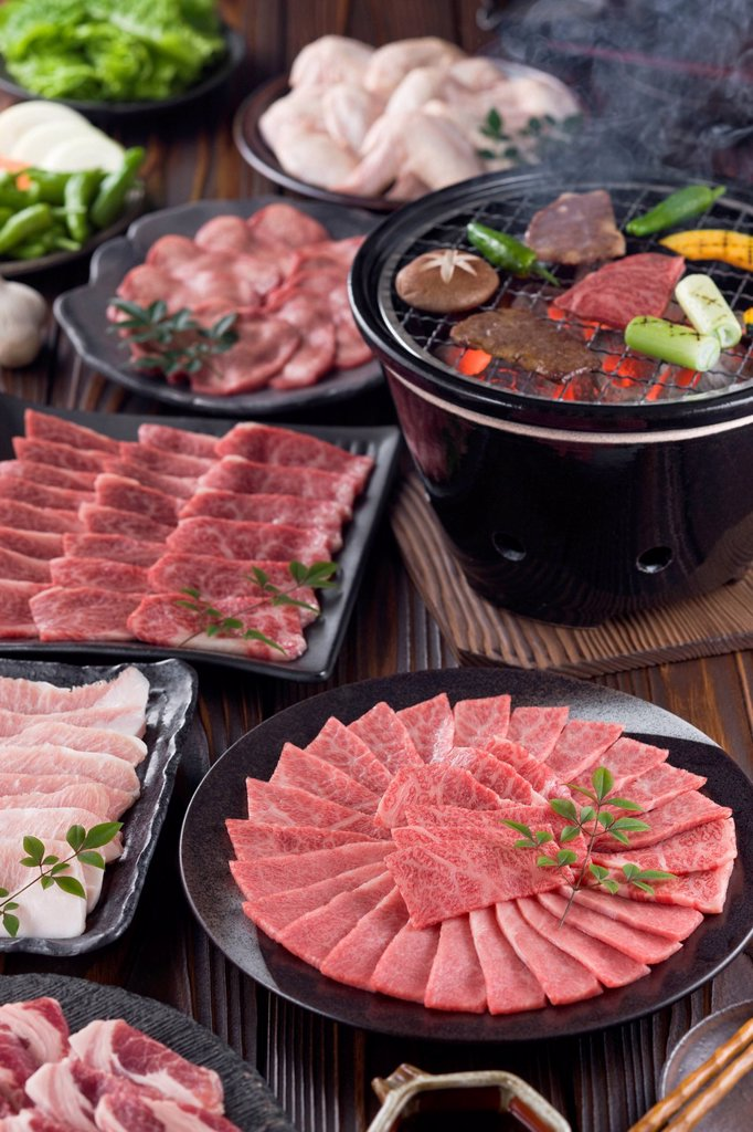 Stock Photo: 1436R-442666 Korean Barbecue