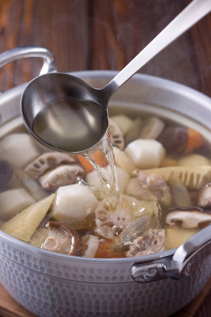 Stock Photo: 1436R-442785 Simmered Vegetable with Dashi