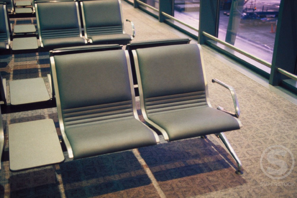 Stock Photo: 1436R-69068 Airport waiting area