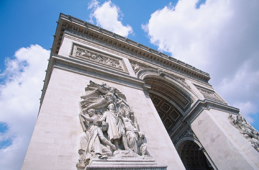 Stock Photo: 1436R-78036 Arc de Triomphe