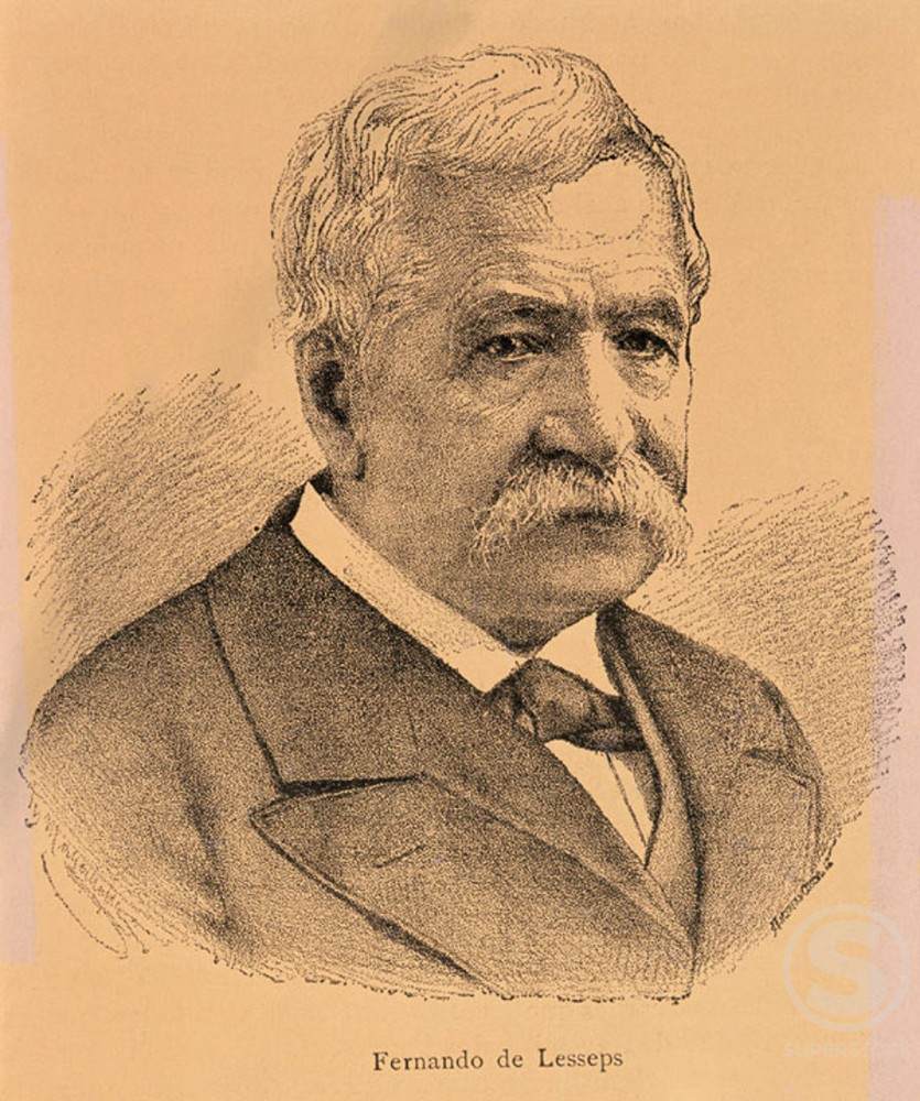 Stock Photo: 1436R-87041 Ferdinand de Lesseps