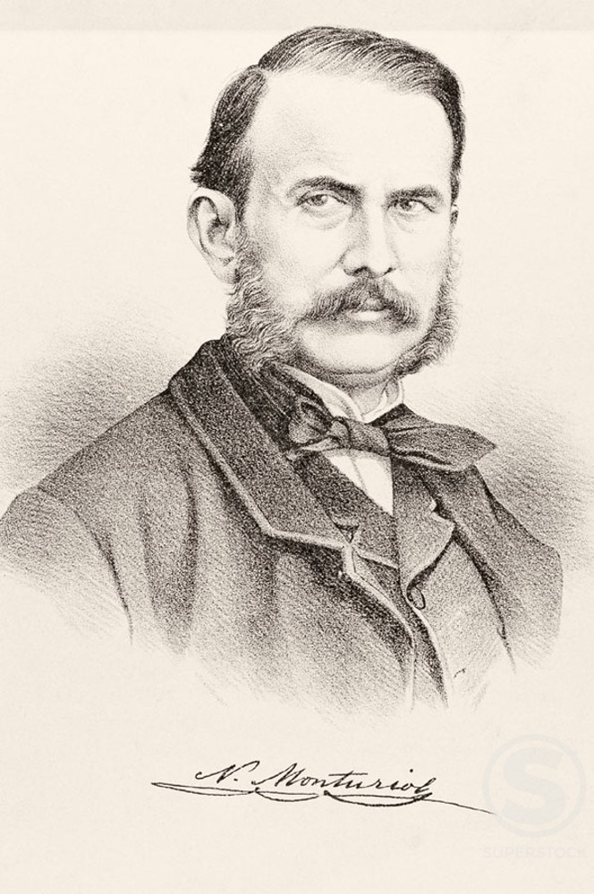 Stock Photo: 1436R-87055 Narciso Monturiol Inventor of the Submarine  (1819-1886)