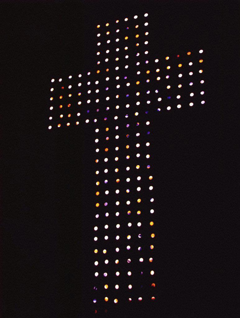 Illuminated cross : Stock Photo