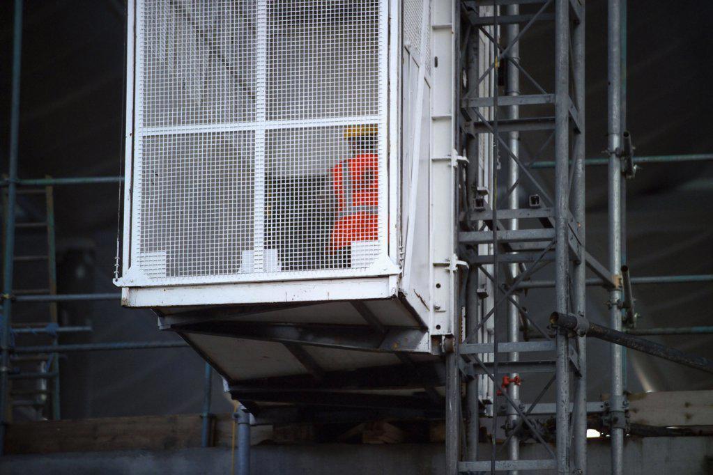 Stock Photo: 1439R-01947 Building site lift
