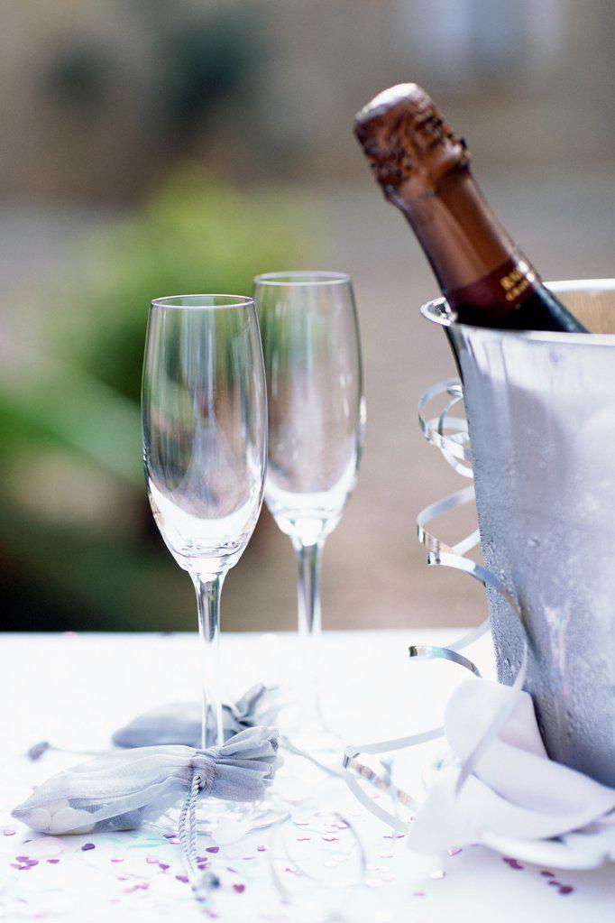 Champagne glasses : Stock Photo