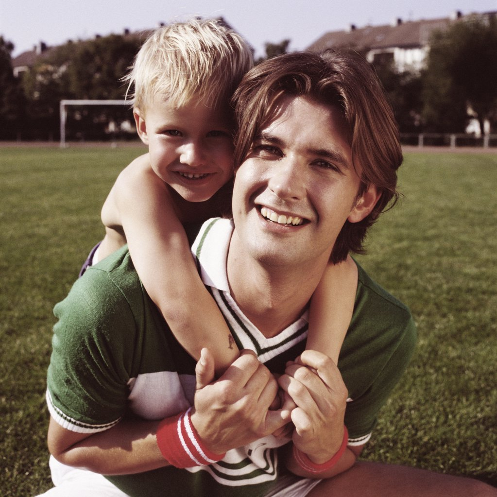 Stock Photo: 1439R-03847 Happy footballers